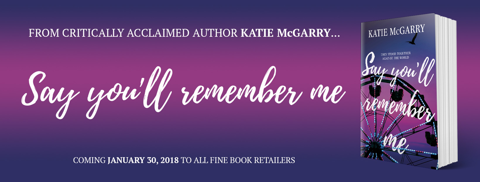 BOOK REVIEW & GIVEAWAY - Say You'll Remember Me by Katie McGarry