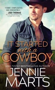 BOOK REVIEW: It Started with a Cowboy (Cowboys of Creedence #3) by Jennie Marts