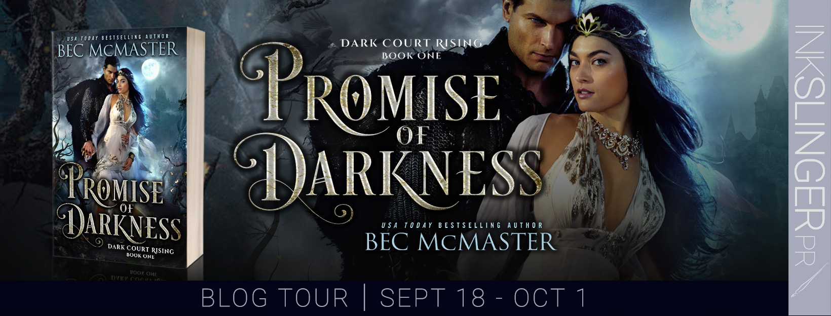 BOOK REVIEW & GIVEAWAY: Promise of Darkness (Dark Court Rising #1) by Bec McMaster
