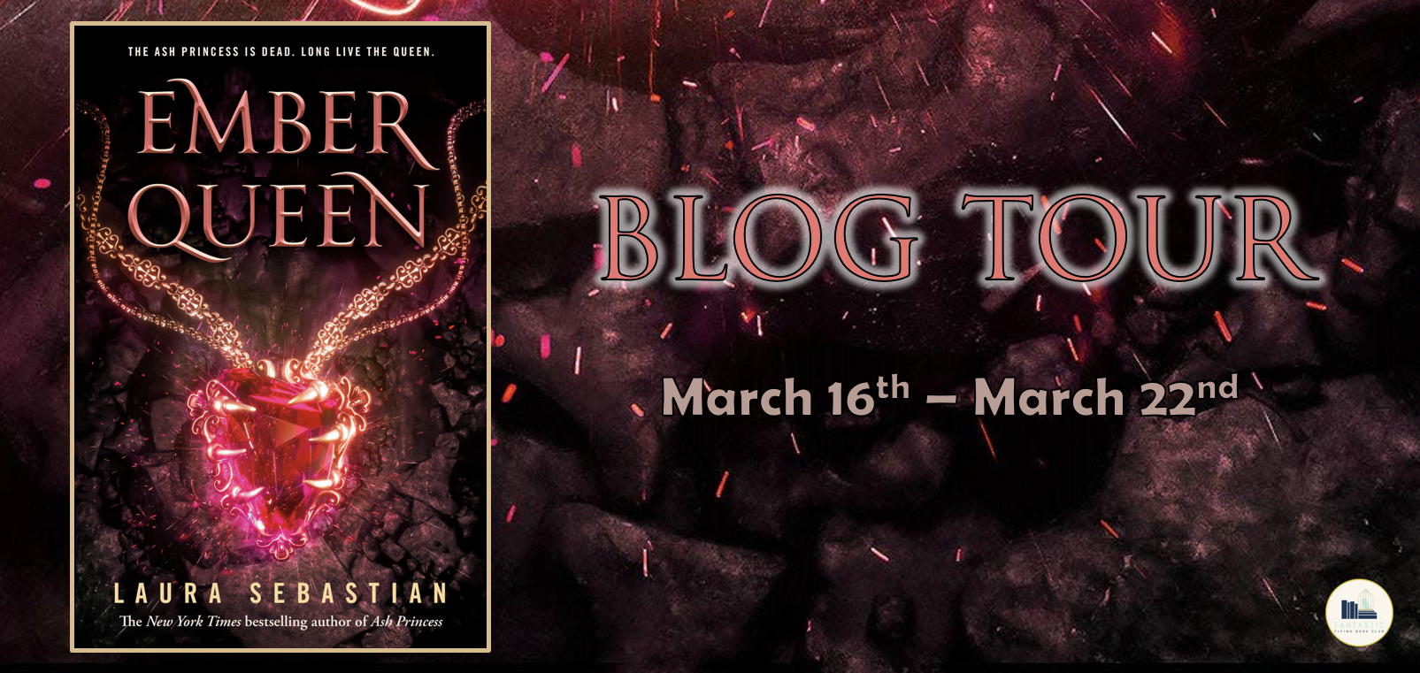 Win (1) copy of THE EMBER QUEEN by Laura Sebastian (US Only)